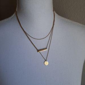Jewelry - Knotty 3 layered gold necklace